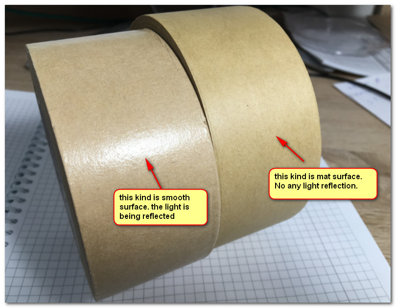 smooth and mat surface kraft paper tape